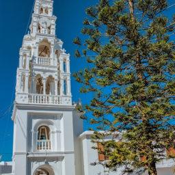 Archangelos clock tower