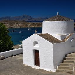 Rhodos Small Church in Lindos