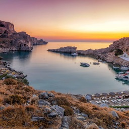 Rhodos Saint Paul's bay in Lindos